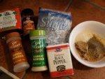 Assorted Brisket Dry Rub Ingredients Displayed On Kitchen Counter