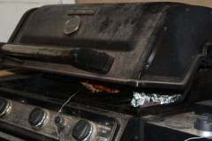 Gas Grill Set Up For Smoking a Turkey