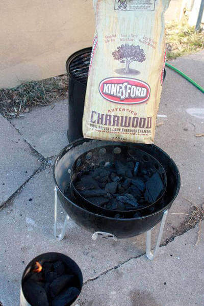 Hardwood Lump In Bag, Smoker and Charcoal Chimney