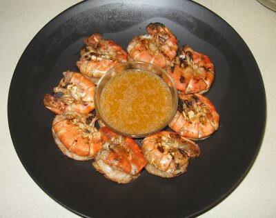 Grilled Cajun Shrimp Hot Off The Grill!
