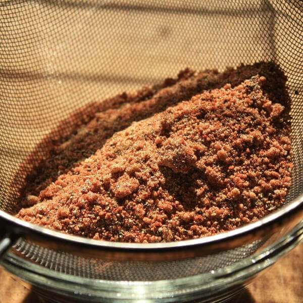 The Initial Mix of Memphis Rib Rub Has Too Many Lumps of Brown Sugar. A Sieve Cures This Problem.