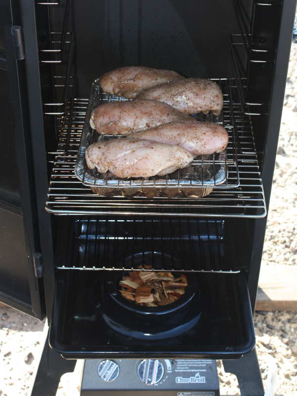 Five Chicken Breasts in Char-Broil Gas Smoker