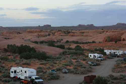 Smoking Chicken at Sand Flats Rec Area, Moab, Utah