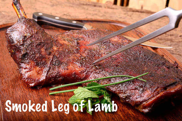 Smoked Leg of Lamb On Cutting Board