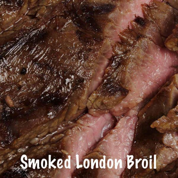Beef London Broil, Smoked Until Medium Rare