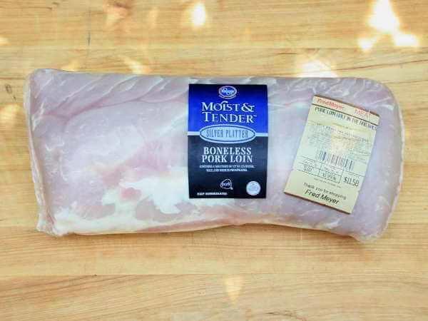 Pork Loin Fat Side Down, Raw, In Cryovac Packaging