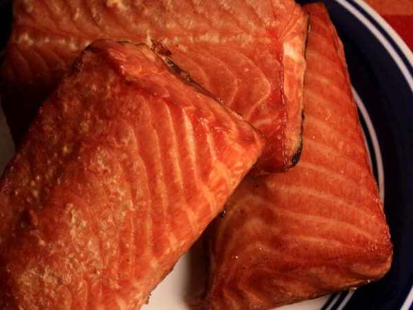 Smoked Atlantic Salmon on Round Serving Dish