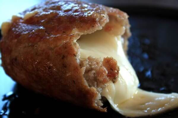 A Smoked Sausage Cheese Bomb!