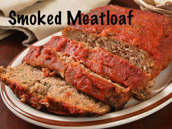 Smoked Meatloaf, Sliced on Platter