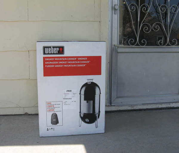 My New WSM Meat Smoker, Delivered By Amazon and Waiting On Front Porch