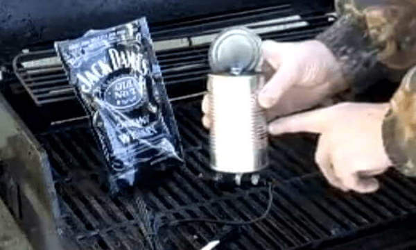 Items Needed For Home Built Cold Smoke Generator - Soldering Iron, Tin Can and Wood Pellets