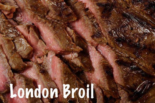 Beef London Broil, Sliced On Serving Platter