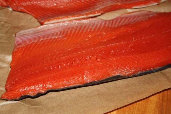 Pin Bones Remain In This Sockeye Salmon Fillet And Must Be Removed