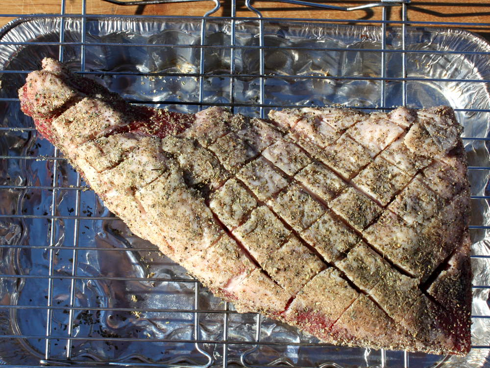 Seasoned Beef Roast, Fat Cap Scored In Criss-Cross Pattern
