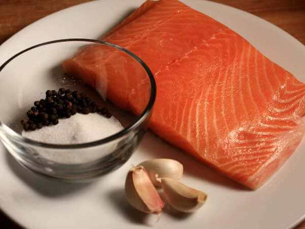 Salmon and Seasonings For Cold Smoked Salmon Recipe