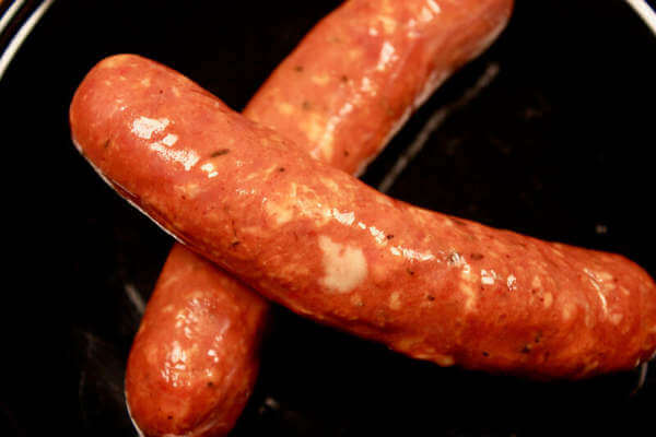Fresh Andouille Sausages, Ready for Some Cool Smoke!