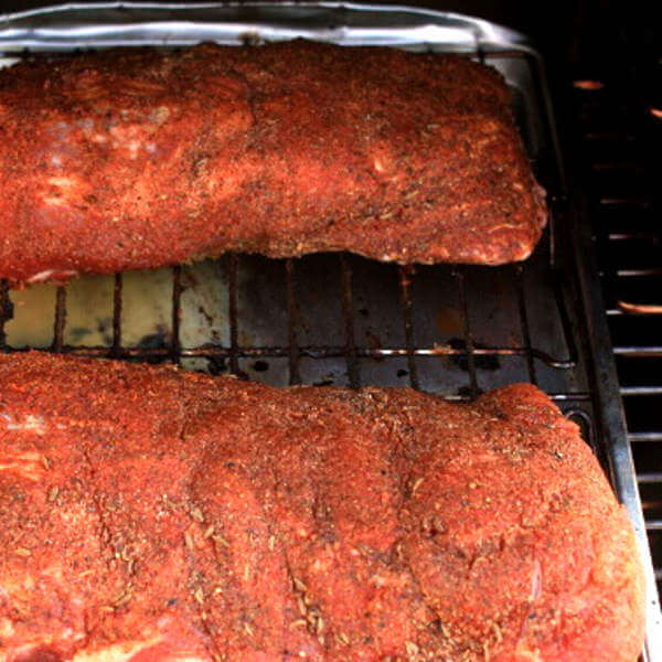 A Pair of Baby Back Ribs In My Masterbuilt Smoker