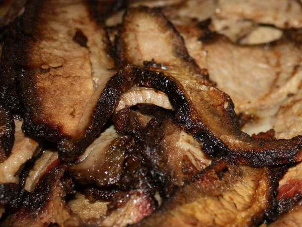 Smoked Beef Brisket, Sliced and Ready to Serve