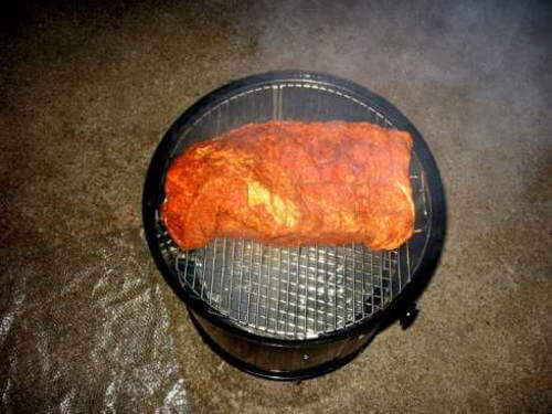 Brisket Seasoned with Dry Rub, Just Place On Weber Smoky Mountain Cooker