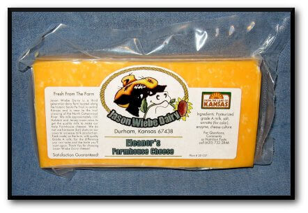 Block Of Wiebe Dairy Cheddar Cheese