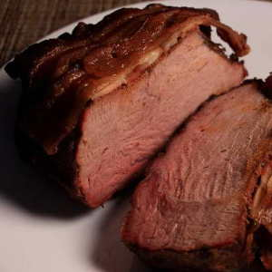 This Cross Rib Roast Was Grilled, With Wood Chips Used to Add Smoky Flavor