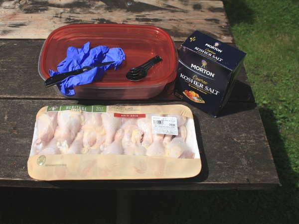 Getting Ready to Brine Chicken Legs