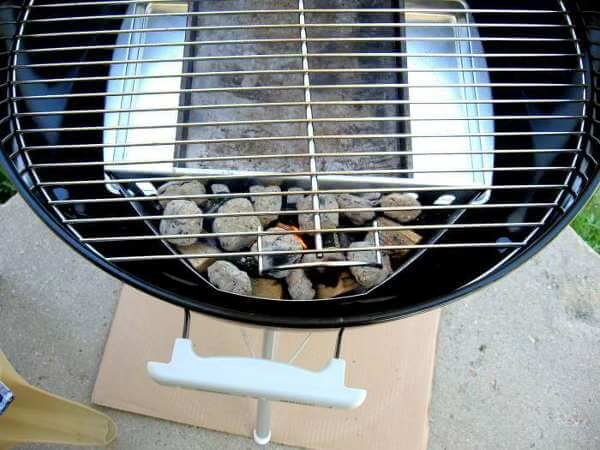Weber Grill Set Up For Smoking Chicken Breasts