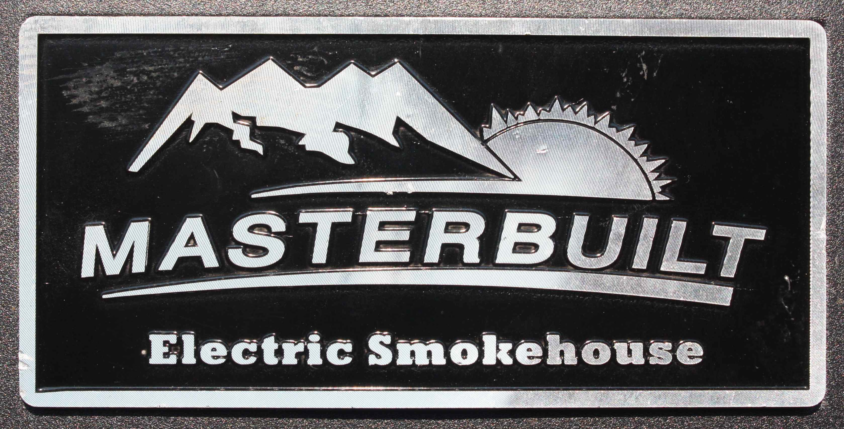 Masterbuilt Smoker Logo, On Front Of Masterbuilt Digital Electric Smoker