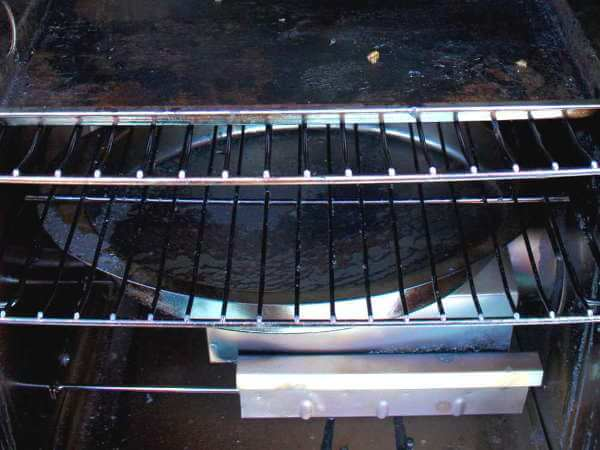 Photo Of Water Pan In a Masterbuilt Electric Smoker