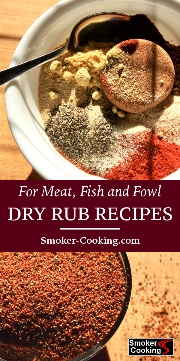 You'll find dry rub recipes that are perfect for all your smoked foods, including Memphis ribs, smoked chicken and juicy smoked brisket rubs.