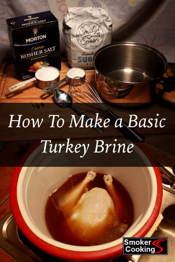 Image Showing Turkey Brine Ingredients, And a Whole Turkey Being Brined In a Large Cooler