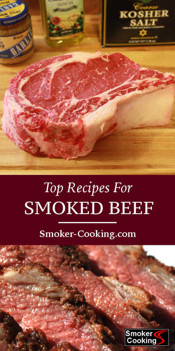 These smoked beef recipes will have you cooking great things like smoked beef ribs, meatloaf, prime rib, beef roasts and more! Think about giving the smoked Santa Maria Tri Tip recipe a try!