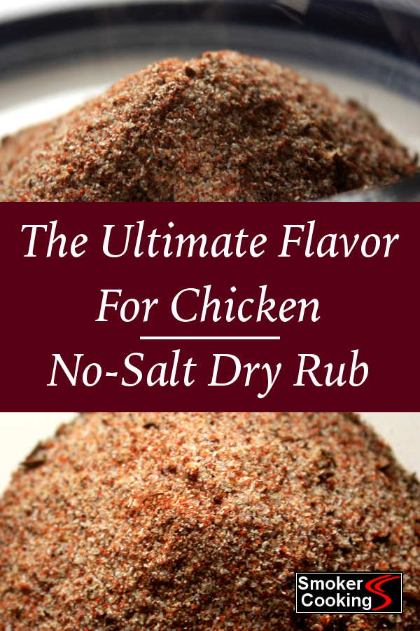Use this tasty no-salt chicken dry rub recipe, and take control of your salt intake.