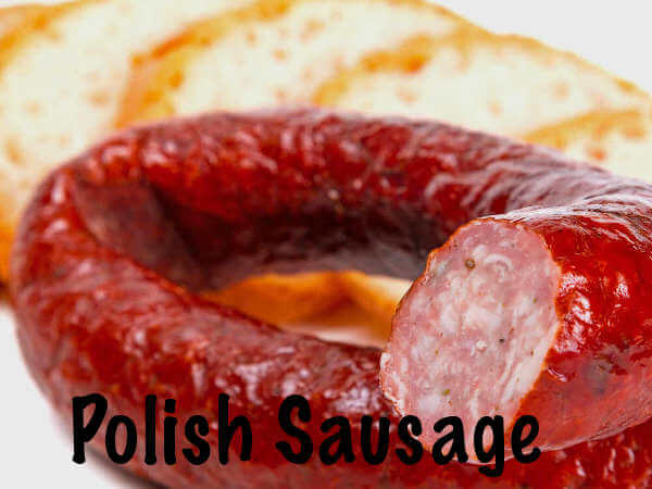 Rope of Polish Sausage, An Ingredient of Bacon and Sausage Appetizers