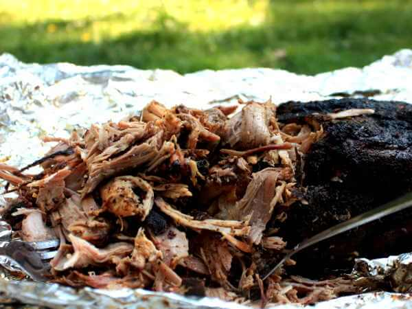 Shredding a Smoked Pork Shoulder Into Succulent Pulled Pork