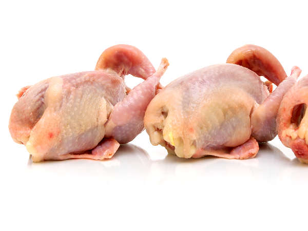 Fresh Quail Ready to Be Seasoned and Grilled