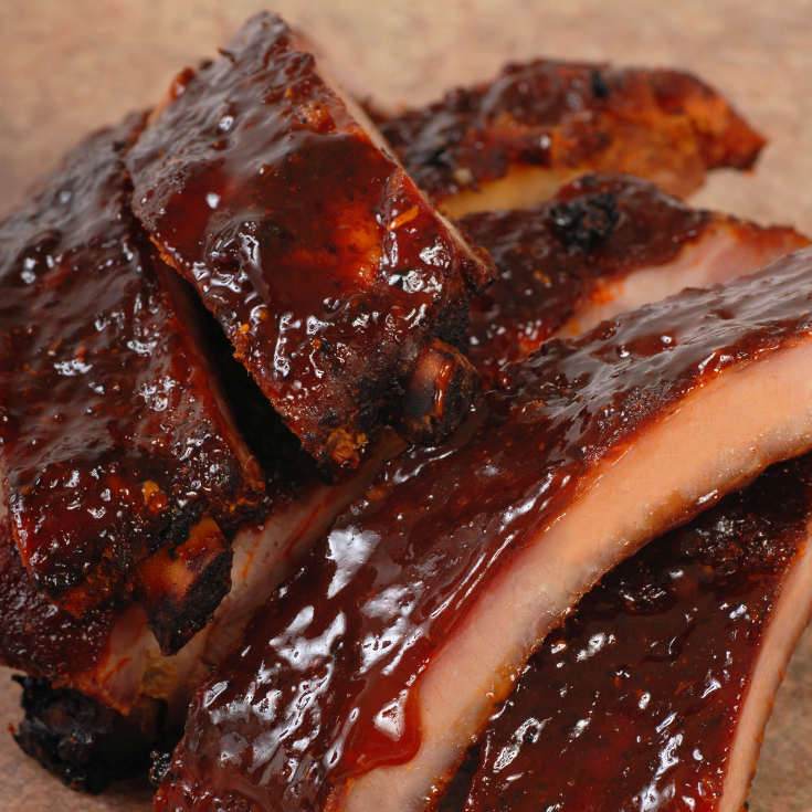 Pork Spareribs Drenched In Captain Morgan Barbecue Sauce