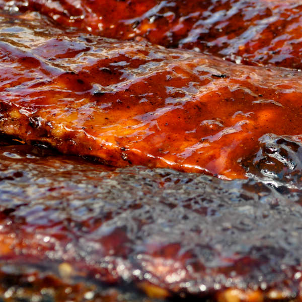 Kansas City Style BBQ Sauce On a Bunch of Baby Backs
