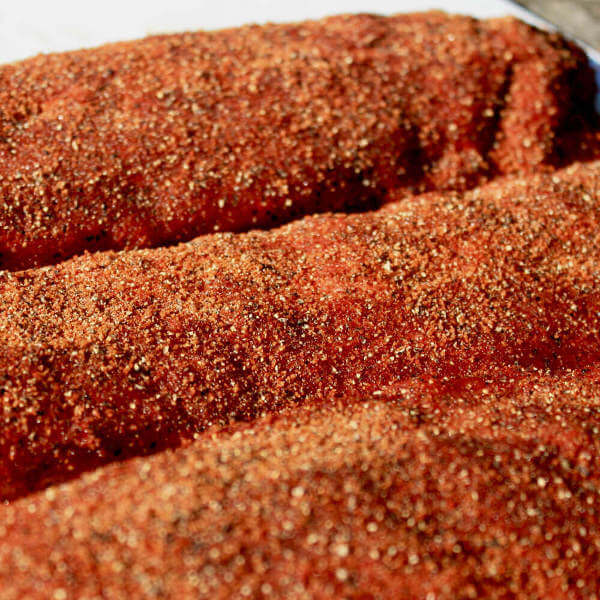 Three Baby Back Pork Rib Slabs Seasoned Kansas City Style