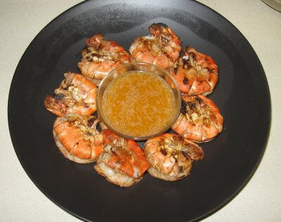 Grilled Cajun Shrimp Hot Off The Grill!
