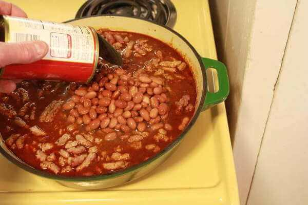 Adding Canned Beans To The Chili
