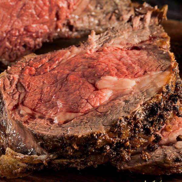 A Juicy Slice of Smoky Beef Rib Roast