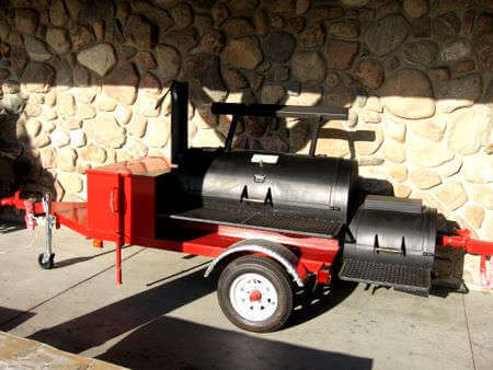Meat Smokers, Trailer Mounted Smoker