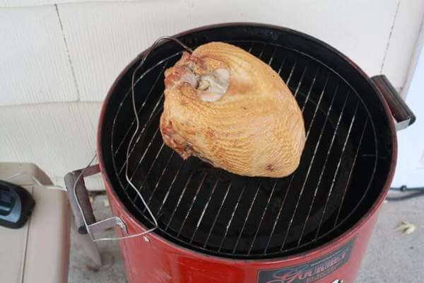 Whole Turkey Breast On an Old Brinkmann Gourmet Vertical Electric Smoker