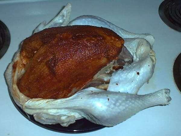 Raw Turkey, Breast Meat Seasoning With Wet Rub
