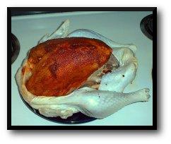 Turkey Seasoned With Wet Rub Under the Skin