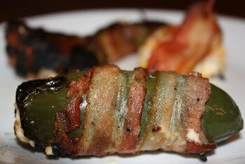 Bacon Wrapped Cheese Stuffed Jalapeno Pepper