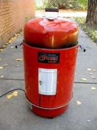 Bright Red Brinkmann Gourmet Vertical Electric Smoker