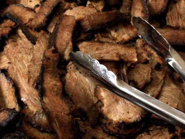 Yummy Sliced Smoked Brisket, Ready For Eatin'!