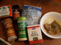 Assorted Brisket Dry Rub Ingredients Displayed On Kitchen Counter
